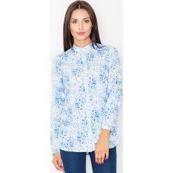 Bielizna damska: Koszula na Stójce we Wzór Niebieska Mozaika