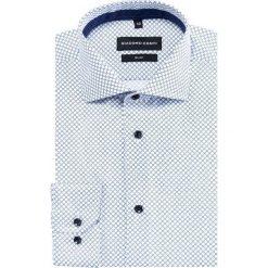 Koszula SIMONE KDWS000376. Białe koszule męskie na spinki Giacomo Conti, m, w geometryczne wzory, z bawełny. Za 169,00 zł.