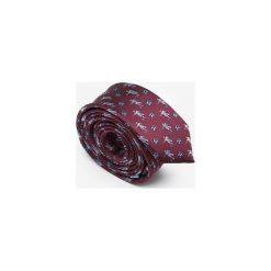KRAWAT FOOTBALLERS. Czerwone krawaty męskie Marthu, klasyczne. Za 129,00 zł.