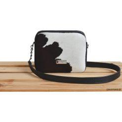 Torebki klasyczne damskie: Skórzana torebka w łaty