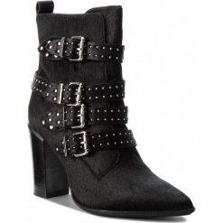 Botki BRONX - 33968-G BX 1217 Black 01. Czarne buty zimowe damskie marki Bronx, z materiału. W wyprzedaży za 379,00 zł.