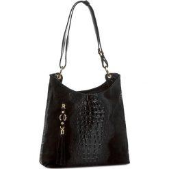 Torebka CREOLE - RBI10151 Czarny. Czarne torebki klasyczne damskie Creole, ze skóry. W wyprzedaży za 299,00 zł.