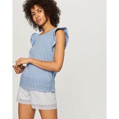 Piżamy damskie: Dwuczęściowa piżama – Niebieski