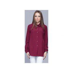 Elegancka koszula z kołnierzykiem bordo H025. Czerwone koszule damskie Harmony, m, biznesowe, z klasycznym kołnierzykiem, z długim rękawem. Za 134,00 zł.