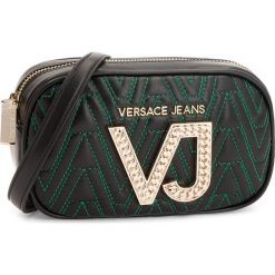 Torebka VERSACE JEANS - E1VSBBI1 70784 J35. Czarne listonoszki damskie Versace Jeans, z jeansu, na ramię, zdobione. Za 619,00 zł.