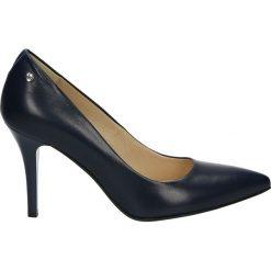 Czółenka - 24005 CAP BLU. Czarne buty ślubne damskie Venezia, ze skóry. Za 299,00 zł.