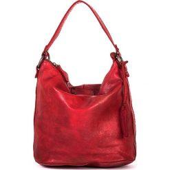 Torebki klasyczne damskie: Skórzana torebka w kolorze czerwonym – 26 x 28 x 17 cm