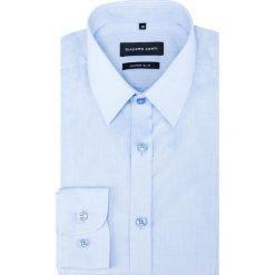 Koszula KARL KDNE000299. Niebieskie koszule męskie na spinki Giacomo Conti, m, z bawełny, z klasycznym kołnierzykiem, z długim rękawem. Za 259,00 zł.