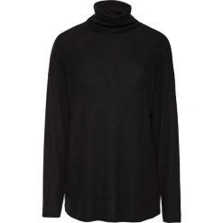 Miękki sweter z golfem bonprix czarny. Czarne golfy damskie marki bonprix, z długim rękawem. Za 99,99 zł.