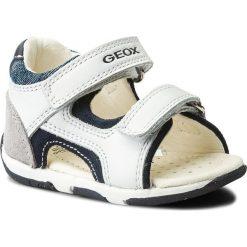 Sandały GEOX - B S.Tapuz B. C B820XC 08522 C0899 M White/Navy. Białe sandały męskie skórzane Geox. W wyprzedaży za 189,00 zł.