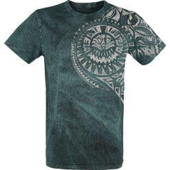 T-shirty męskie z nadrukiem: Outer Vision Burned Tattoo T-Shirt niebieski