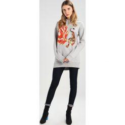 Bluzy rozpinane damskie: SET Bluza z kapturem light grey