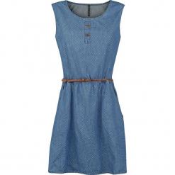 Alife and Kickin Scarlett A Dress Sukienka niebieski. Niebieskie sukienki z falbanami Alife and Kickin, m, z okrągłym kołnierzem. Za 99,90 zł.