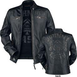 Johnny Cash EMP Signature Collection Kurtka skórzana czarny. Czarne kurtki męskie Johnny Cash, m, z motywem zwierzęcym. Za 1059,90 zł.
