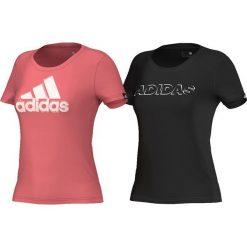 Adidas Koszulka Blurry Pack różowa r. XS (AI6167). Czerwone topy sportowe damskie marki Adidas, xs. Za 88,84 zł.