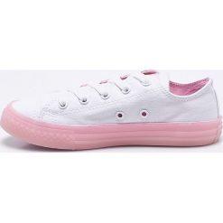 Converse - Tenisówki dziecięce. Szare buty sportowe dziewczęce Converse, z gumy, z okrągłym noskiem, na sznurówki. Za 189,90 zł.