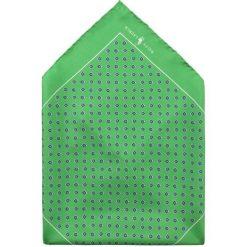 Polo Ralph Lauren NEATS SQUARE  Poszetka green. Zielone krawaty męskie Polo Ralph Lauren, z jedwabiu. Za 379,00 zł.