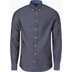 Tommy Hilfiger - Koszula męska, niebieski. Szare koszule męskie na spinki marki TOMMY HILFIGER, z bawełny. Za 349,95 zł.