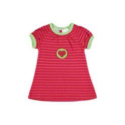 Pink or blue  Sukienka serce. Niebieskie sukienki niemowlęce pink or blue, z bawełny. Za 35,00 zł.
