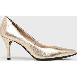 Answear - Szpilki. Czarne szpilki marki Elisabetta Franchi, eleganckie, na obcasie. W wyprzedaży za 164,90 zł.