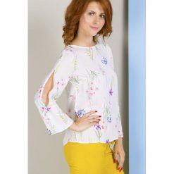 Bluzki asymetryczne: Bluzka w kolorowe kwiaty