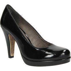 CZÓŁENKA TAMARIS 1-22426-23. Czarne buty ślubne damskie Casu, na koturnie. Za 169,99 zł.