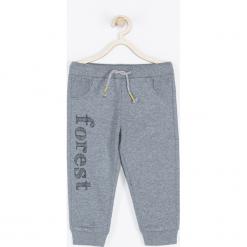Spodnie. Szare spodnie dresowe chłopięce FOREST, z aplikacjami. Za 49,90 zł.