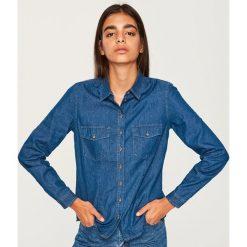 Jeansowa koszula - Granatowy. Niebieskie koszule jeansowe damskie Reserved. Za 49,99 zł.
