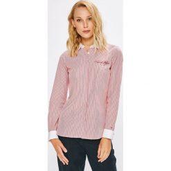 Tommy Hilfiger - Koszula. Szare koszule damskie marki TOMMY HILFIGER, m, z nadrukiem, z bawełny, casualowe, z okrągłym kołnierzem. Za 359,90 zł.