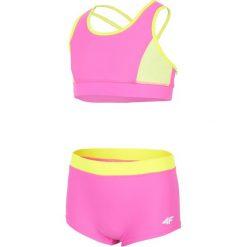 Stroje jednoczęściowe dziewczęce: Kostium kąpielowy dla dużych dziewcząt JKOS209 – różowy