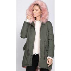 Odzież damska: Zielono-Różowa Kurtka Leaf Blade