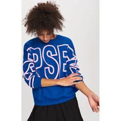 Bluza z nadrukiem - Niebieski. Niebieskie bluzy męskie rozpinane marki Reserved, m, z nadrukiem. Za 79,99 zł.
