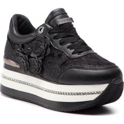 Sneakersy GUESS - FL5HIN LAC12 BLACK. Czarne sneakersy damskie marki Guess, z materiału. Za 599,00 zł.