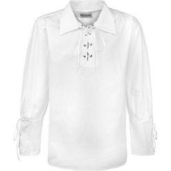 Medieval Koszula z wiązaniem Koszula biały. Białe koszule męskie na spinki marki bonprix, z klasycznym kołnierzykiem, z długim rękawem. Za 121,90 zł.