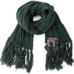 Szal TWINSET - Sciarpa AA7P44 Eucalipt 00160. Szare szaliki damskie marki Pakamera, na zimę. W wyprzedaży za 289,00 zł.