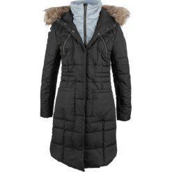 Płaszcz pikowany w optyce 2 w 1 bonprix czarny. Czarne płaszcze damskie bonprix. Za 269,99 zł.
