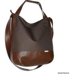 Shopper bag damskie: 5463 ankate, duża brązowa torba, worek xxl brąz