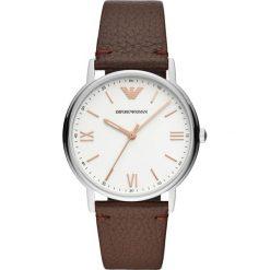 Zegarek EMPORIO ARMANI - Kappa AR11173 Brown/Silver. Szare zegarki męskie marki Emporio Armani, l, z nadrukiem, z bawełny, z okrągłym kołnierzem. Za 899,00 zł.