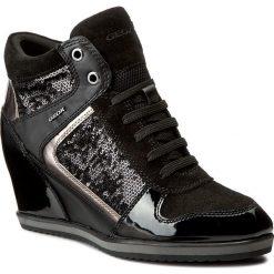 Sneakersy GEOX - D Illusion B D7254B 0AT54 C9999 Black. Czarne sneakersy damskie Geox, z lakierowanej skóry. W wyprzedaży za 319,00 zł.
