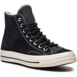 Tenisówki CONVERSE - Chuck 70 Hi 162373C Black/Black/Egret. Czarne tenisówki męskie Converse, z gumy. W wyprzedaży za 319,00 zł.