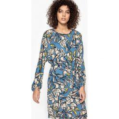 Długie sukienki: Wzorzysta sukienka z długim rękawem CECILE