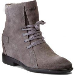 Botki CARINII - B4206 K94-000-PSK-B98. Szare buty zimowe damskie Carinii, ze skóry. W wyprzedaży za 229,00 zł.