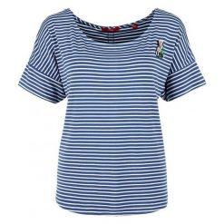 S.Oliver T-Shirt Damski 42 Niebieski. Niebieskie t-shirty damskie S.Oliver, s, z materiału, z okrągłym kołnierzem. W wyprzedaży za 99,00 zł.