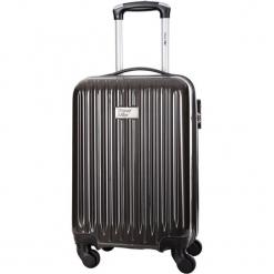 Walizka w kolorze szarym - 34 l. Szare walizki Bagstone & Travel One, z materiału. W wyprzedaży za 199,95 zł.