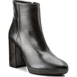 Botki UNISA - Talasi Cmt Black Cervus Mt. Czarne buty zimowe damskie marki Unisa, ze skóry. W wyprzedaży za 379,00 zł.