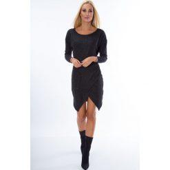 Sukienki hiszpanki: Sukienka z zakładanym dołem czarna MIS10