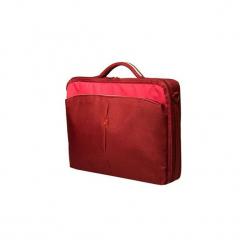"""Continent Torba na notebooka 15.6""""-16"""" (czerwony). Czerwone torby na laptopa Continent, w paski, z materiału. Za 48,52 zł."""