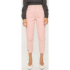 Spodnie z wysokim stanem: Jeansy z wysokim stanem - Różowy