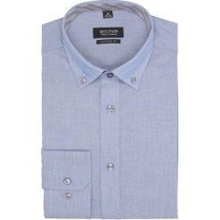Koszula bexley 2639 długi rękaw custom fit niebieski. Niebieskie koszule męskie Recman, m, z długim rękawem. Za 139,00 zł.
