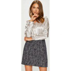 Answear - Koszula Animal me. Szare koszule damskie marki ANSWEAR, l, z poliesteru, casualowe, ze stójką, z długim rękawem. W wyprzedaży za 99,90 zł.